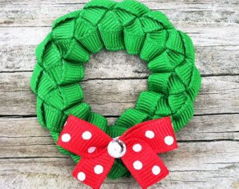 Peppermint Hair Clip, Red and White Candy Hair Clip, Christmas Hair Clip, Peppermint Ribbon Hair Clip, Holiday Hair Bow, Toddler Hair Clip #holidayhair