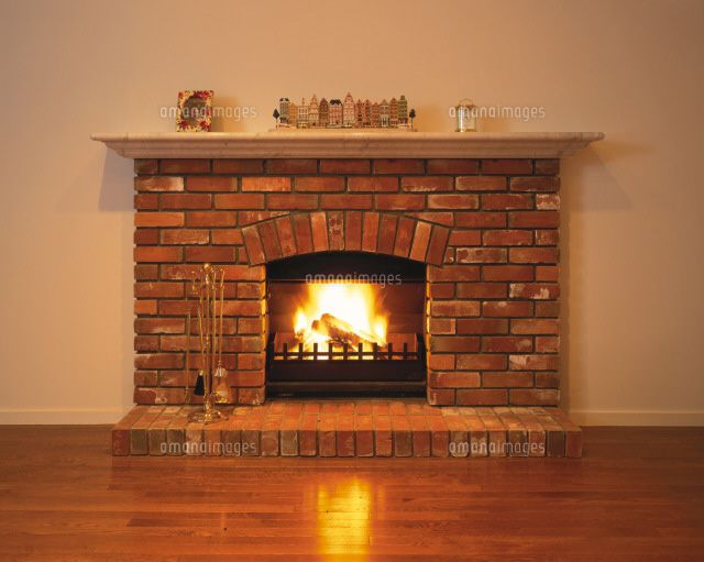 レンガ造りの暖炉 C Yoshihiro Takada Sebun Photo レンガ造り