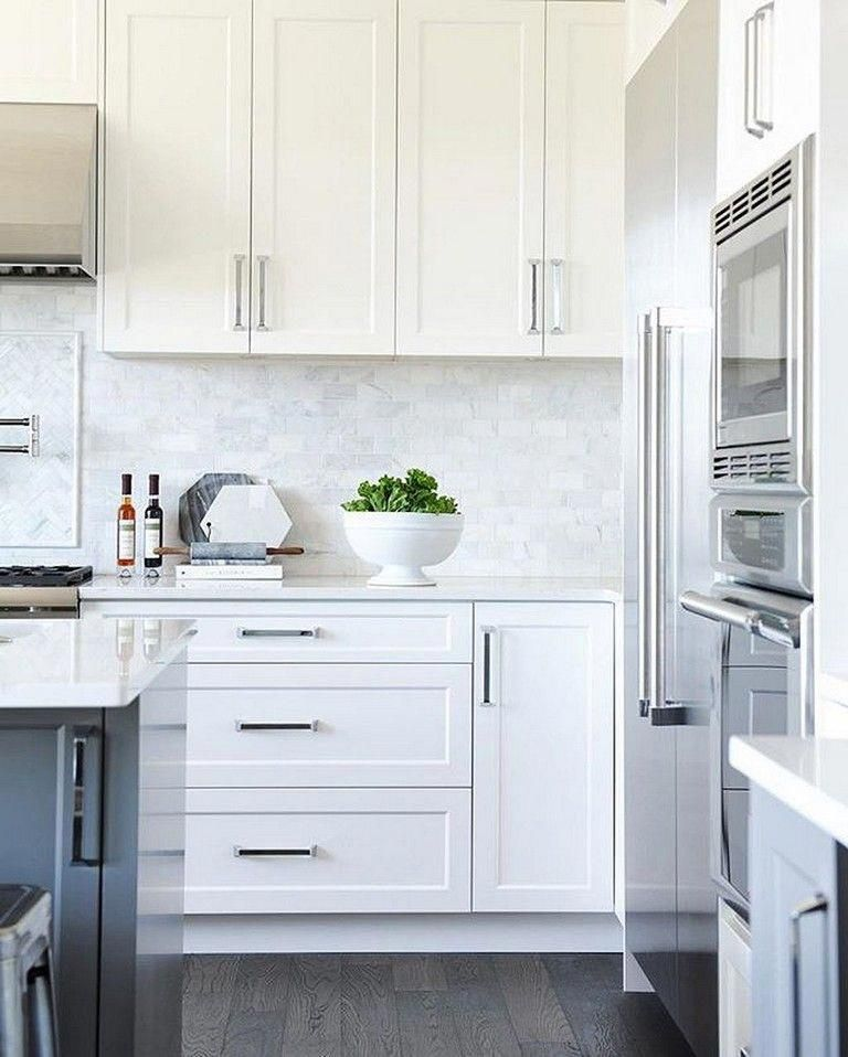 23 Best Modern White Kitchen Cabinets And Backsplash Design Ideas Ideas Ki Kitchen Cabinets And Backsplash White Modern Kitchen White Shaker Kitchen Cabinets