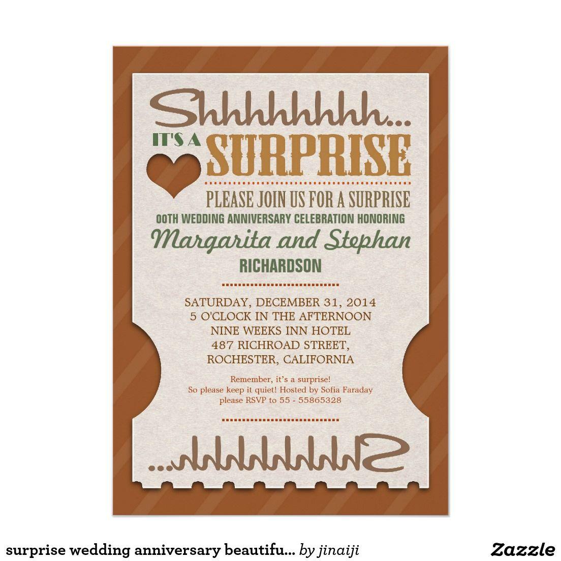 Surprise wedding anniversary beautiful invitations   Wedding Elegant ...