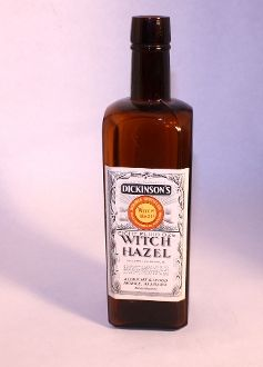 Witch Hazel Bottle, old bottle, old advertising, old country store, old remedy, Junk Drunk Jones
