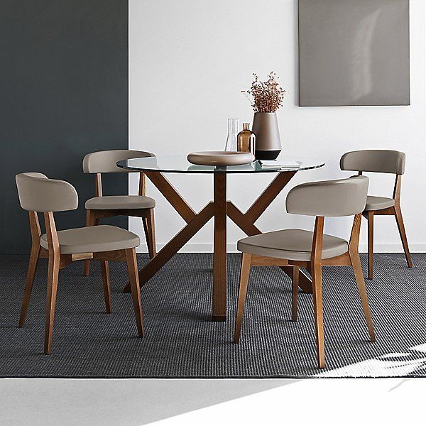 Connubia Mikado Round Dining Table In Wood Glass Round Dining