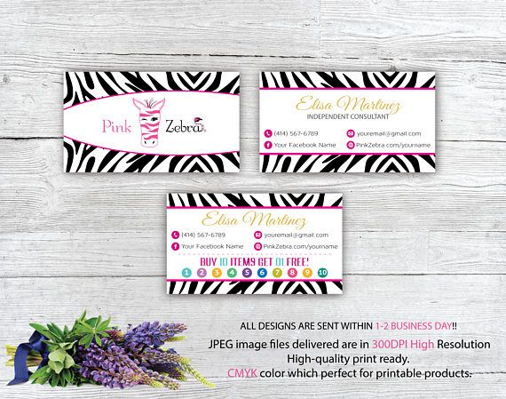 Pin By Toboart On Pink Zebra Pink Zebra Business Card Size Personal Cards