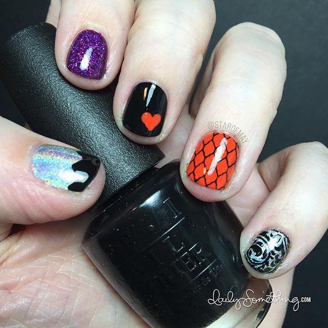 Halloween Nails :) #starofmaynails ~~~~~~~~~~~~~~~ Orange ...