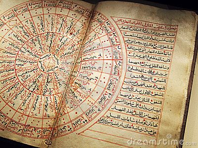 Antique arabian book on astronomy by Joanne Zh, via Dreamstime