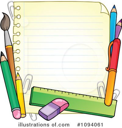 School Clipart High School Supplies Border Design