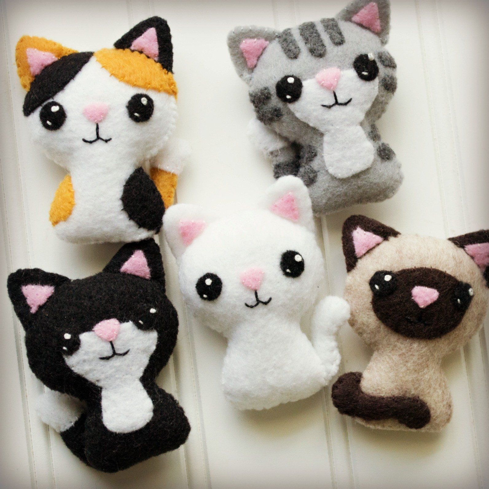 Felt Cat Sewing Pattern  Swat Team Kitties  Craftyaliencom