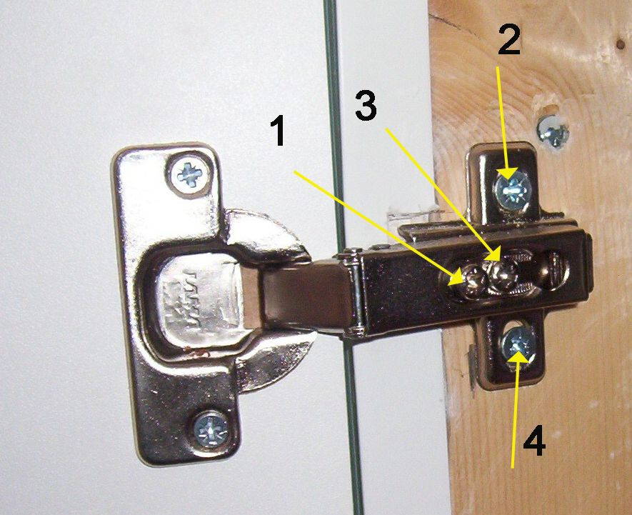 Amazing Concealed Hinge Fixed To Cupboard