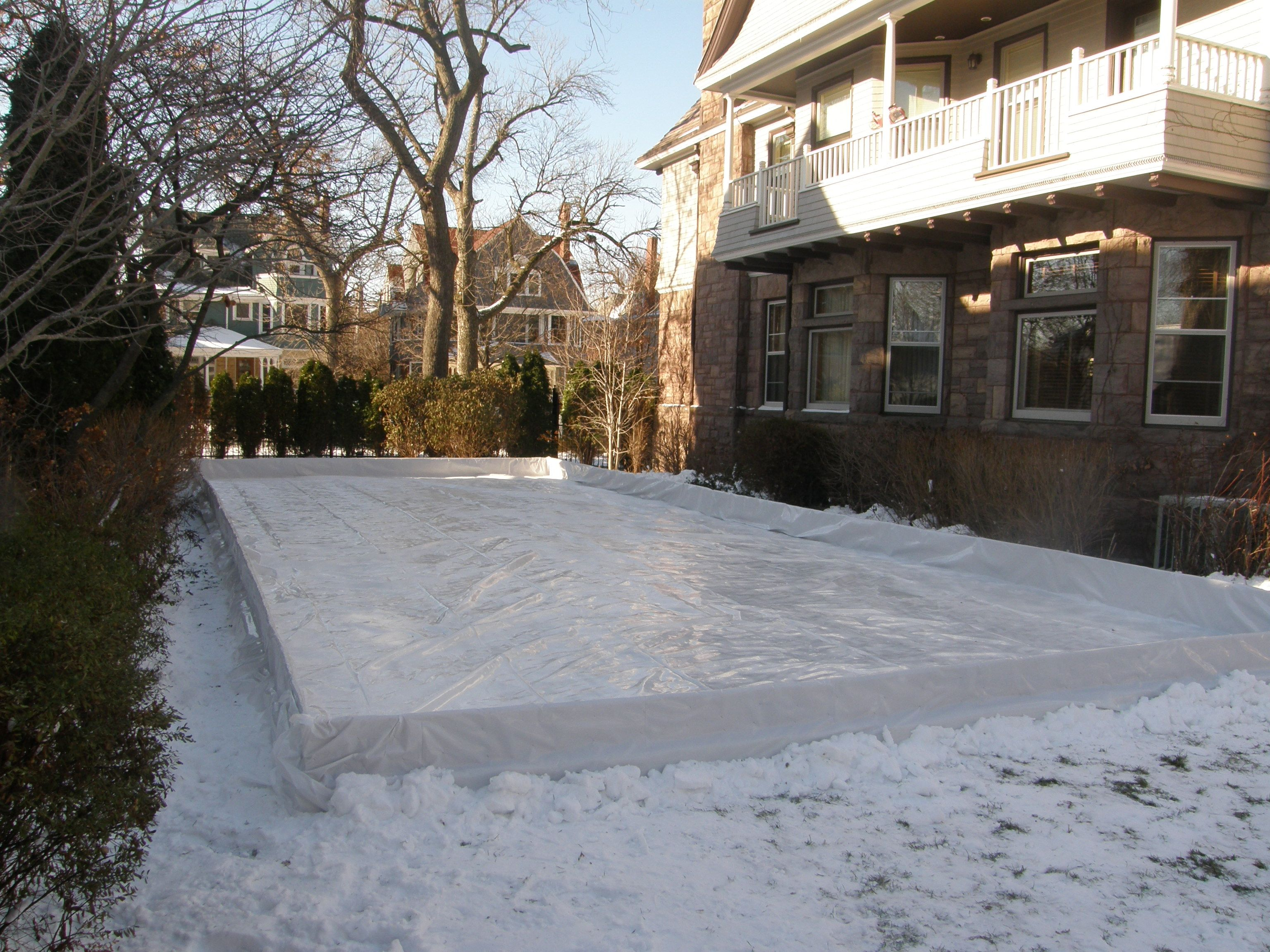 backyard ice rink sport court midwest outdoor residential ice