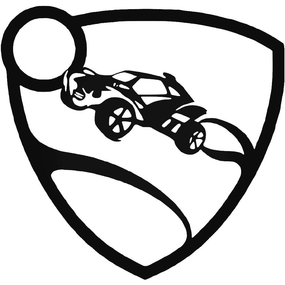 Rocket League Logo Vinyl Decal Sticker BallzBeatz Com