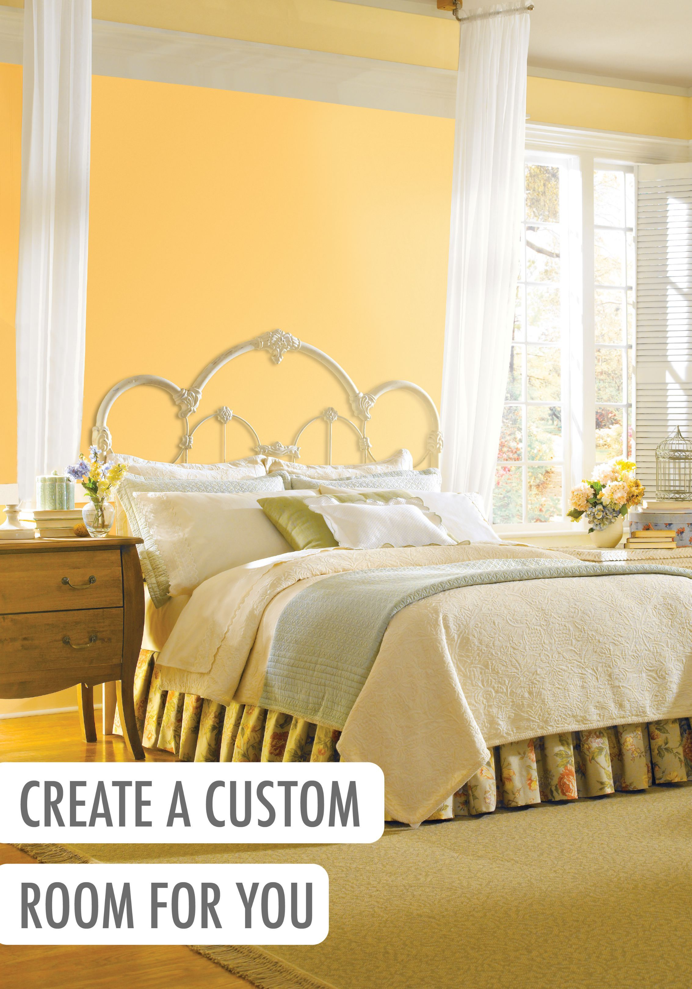 Yellow paint can be just the color to add a bright and cheery touch ...