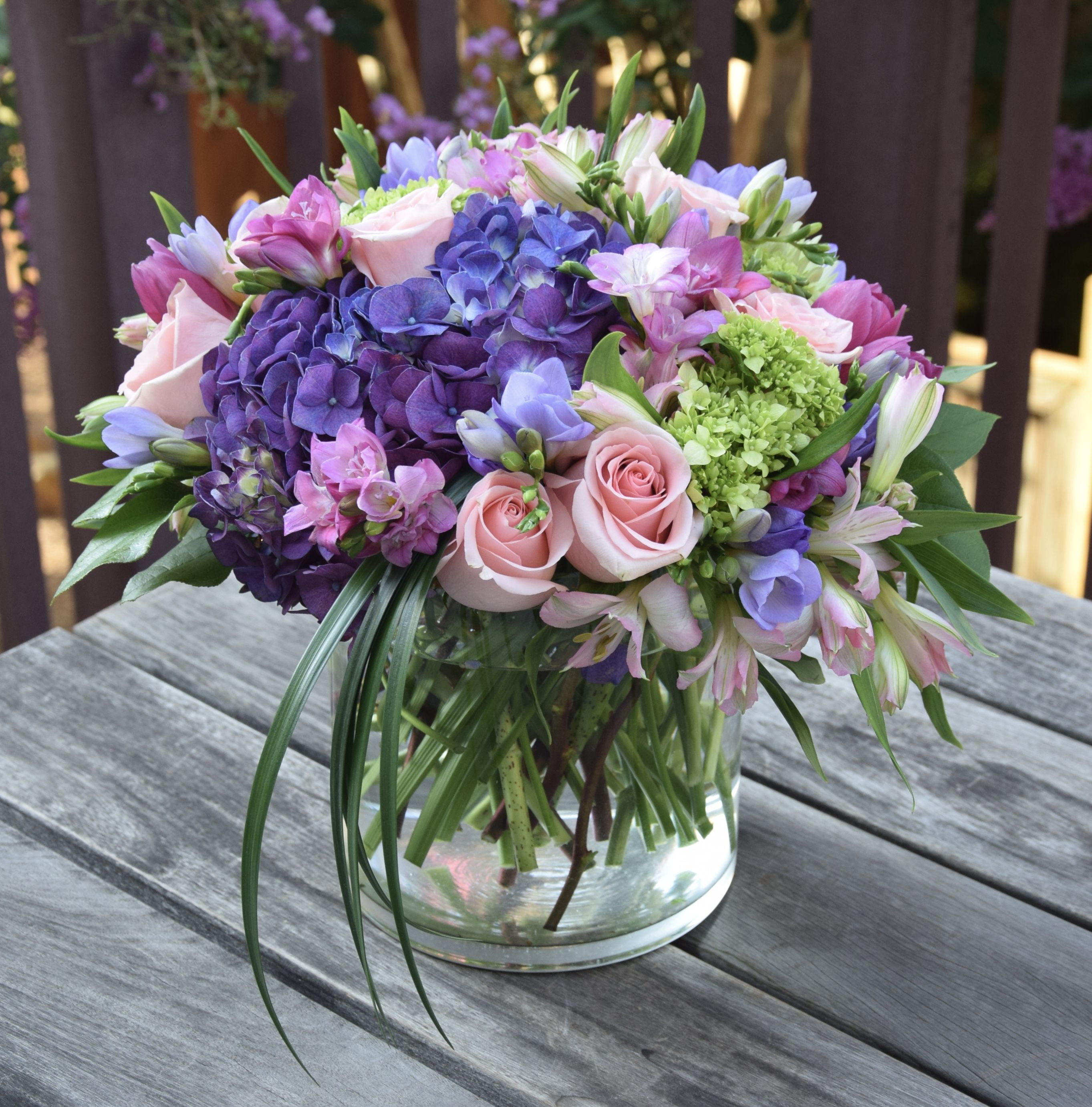 Pin On Purple Flower Arrangements
