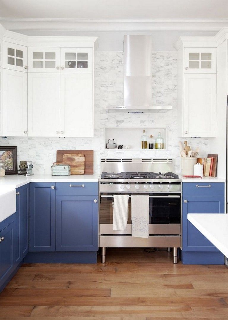 20 Amazing Mix Color Blue And White Kitchen Cabinets Design Kitchen Cabinet Design New Kitchen Cabinets Kitchen Remodel