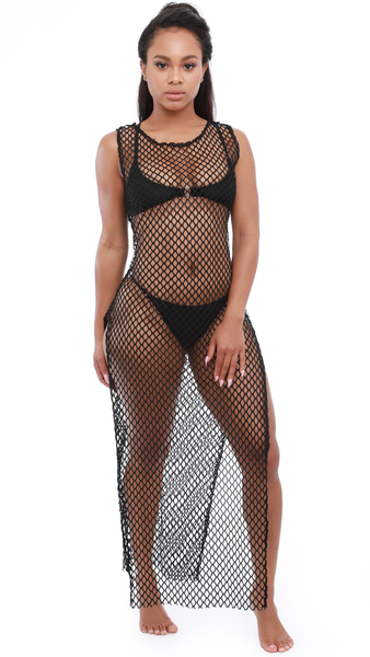 cabcaf189cfae black fishnet coverup | swimwear cover ups beach styles| swimwear cover ups  boho| swimwear