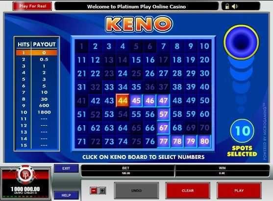 free keno games to play