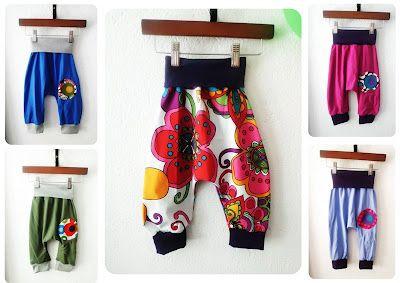 Pantalones turcos para bebé, se ven cómodos.