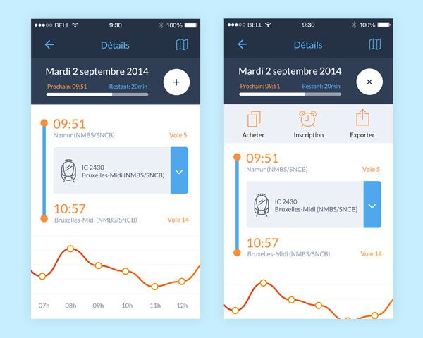 25 Gorgeous Examples Of Timeline In Mobile Apps UI Design - app for resume