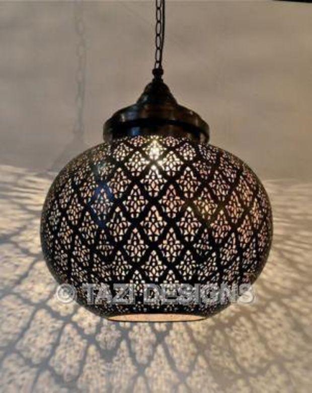 Modern Moroccan Pendant Light Dahon Sphere Lamps Lanterns Lighting