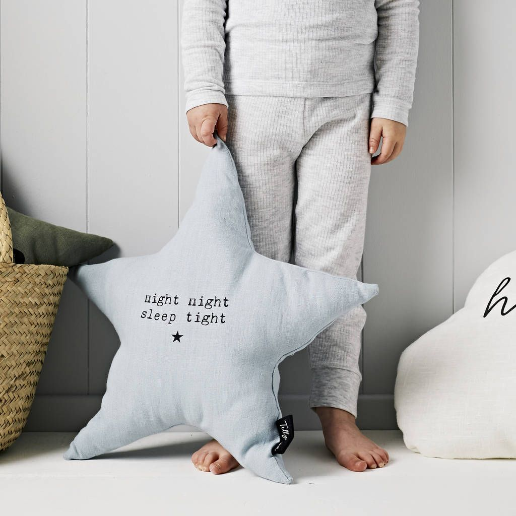 'Night Night Sleep Tight' Linen Cushion
