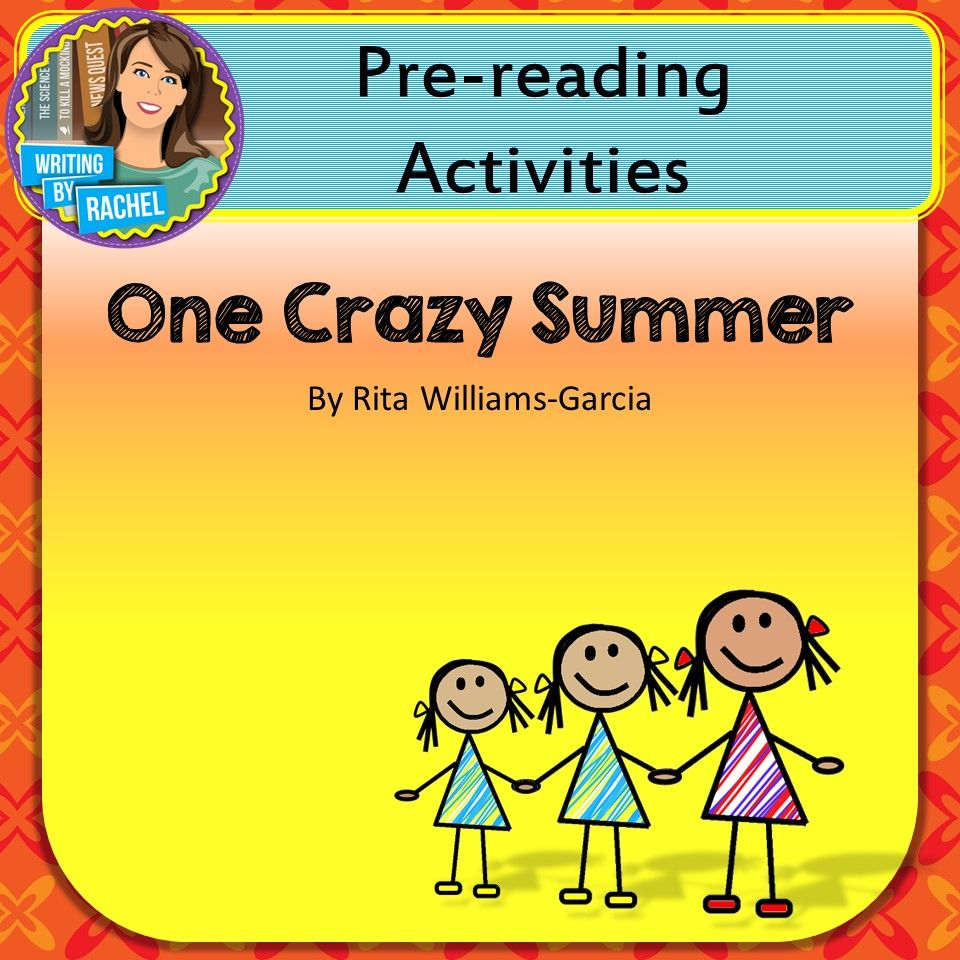 One Crazy Summer PreReading Activities Pre reading