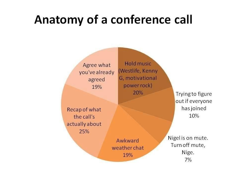 Anatomy of a conference call; my life