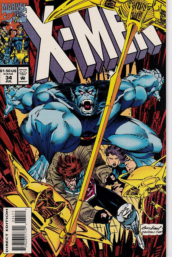 X Men 34 1991 1st Series July 1994 Marvel Comics Grade Nm Comic Art Comics Comic Books X Men