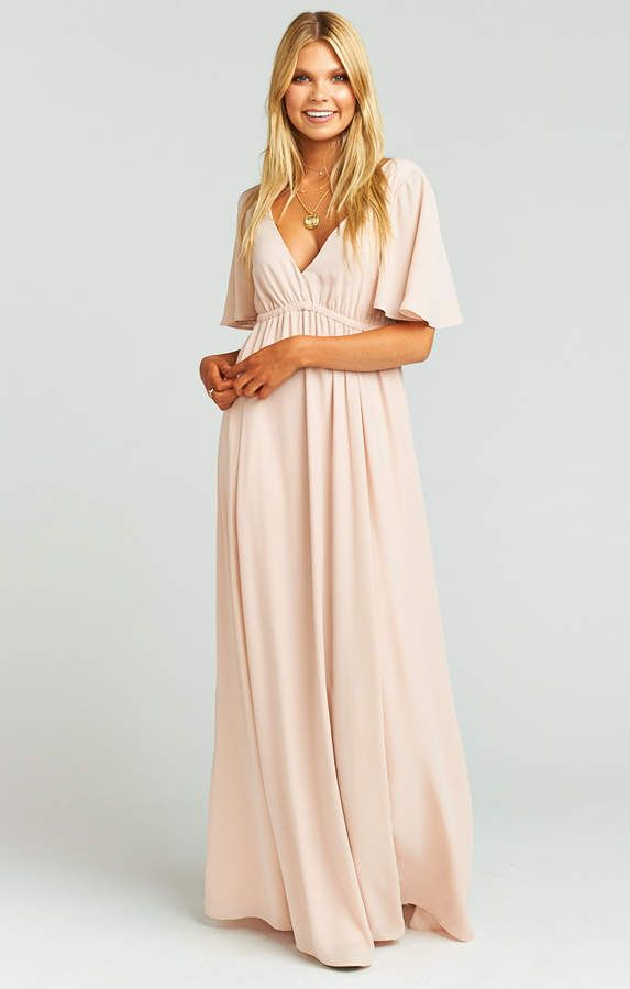 c5719ed294d Show Me Your Mumu Emily Maxi Dress ~ Dusty Blush Crisp