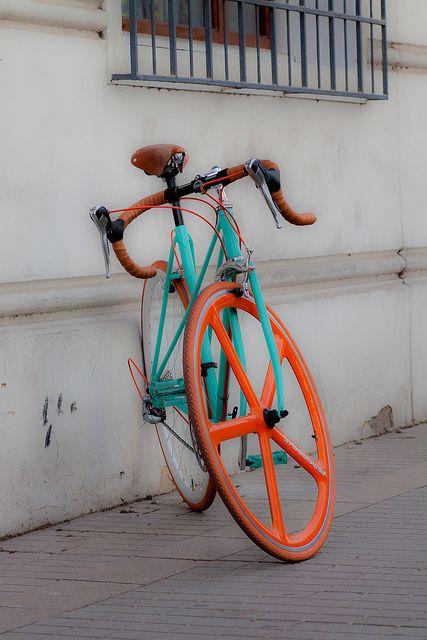 green with orange