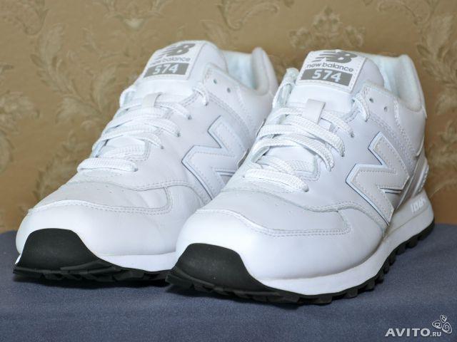 Классические кроссовки кожаные мужские NEW BALANCE оригинал, модель  Classics 574, арт. NB574AW 9c7a2d4f45c