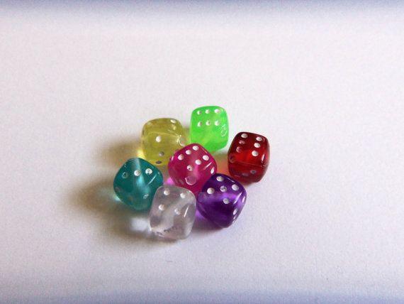 Lucky Dice Beads by TMSupplyShop on Etsy, $2.00-https://www.etsy.com/treasury/MTkwMjYwMjB8MjcyNDU1MTMxOA/all-the-pretty-colors