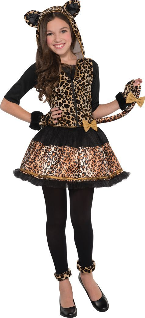 Girls Sassy Spots Leopard Costume - Party City | Halloween Costume ...