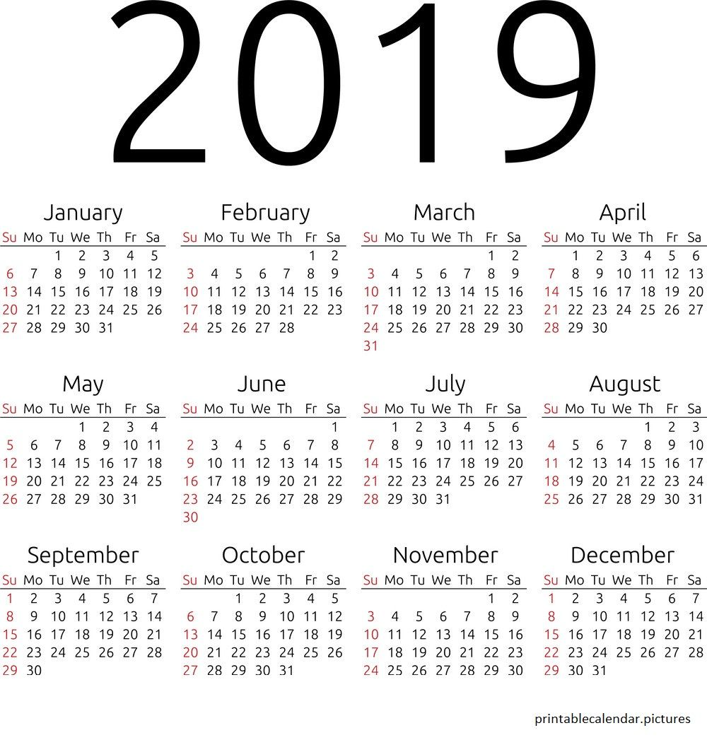 printable calendar 2019 excel calendar free calendar first page first year printables