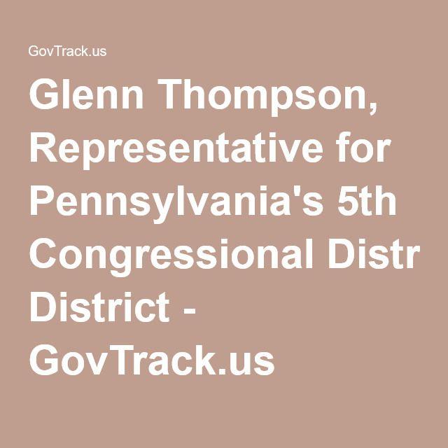 glenn thompson representative for pennsylvania s 5th congressional