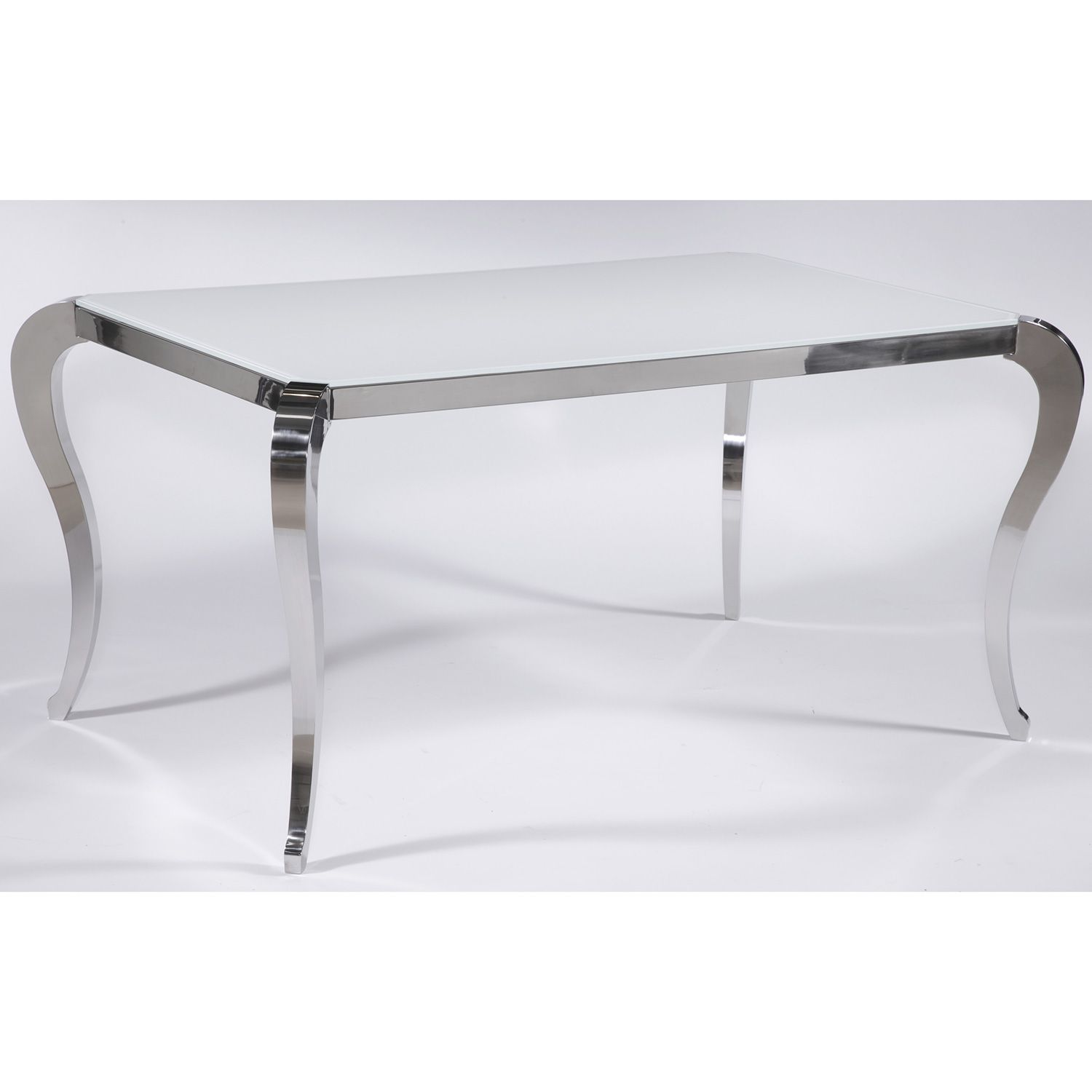 Chintaly Imports Teresa Dt B T Teresa Dining Table Stainless Steel Super White Starphire Glass Top Glass Dining Table White Glass Dining Table Glass Top Dining Table [ 1500 x 1500 Pixel ]