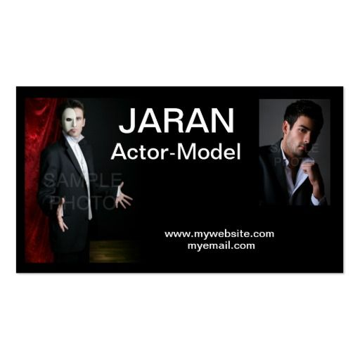 Actor headshot business cards business cards business and models actor headshot business cards colourmoves