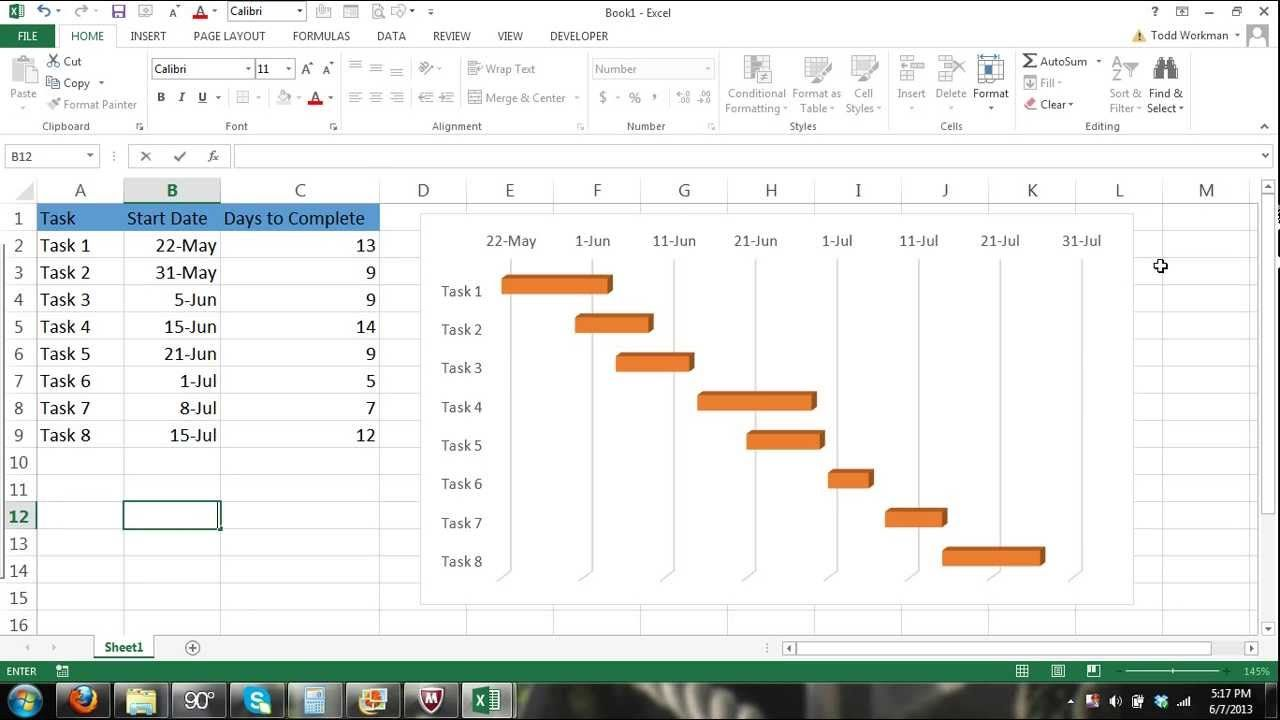 Gantt chart excel tutorial how to make a basic gantt chart in gantt chart excel tutorial how to make a basic gantt chart in microsof nvjuhfo Choice Image