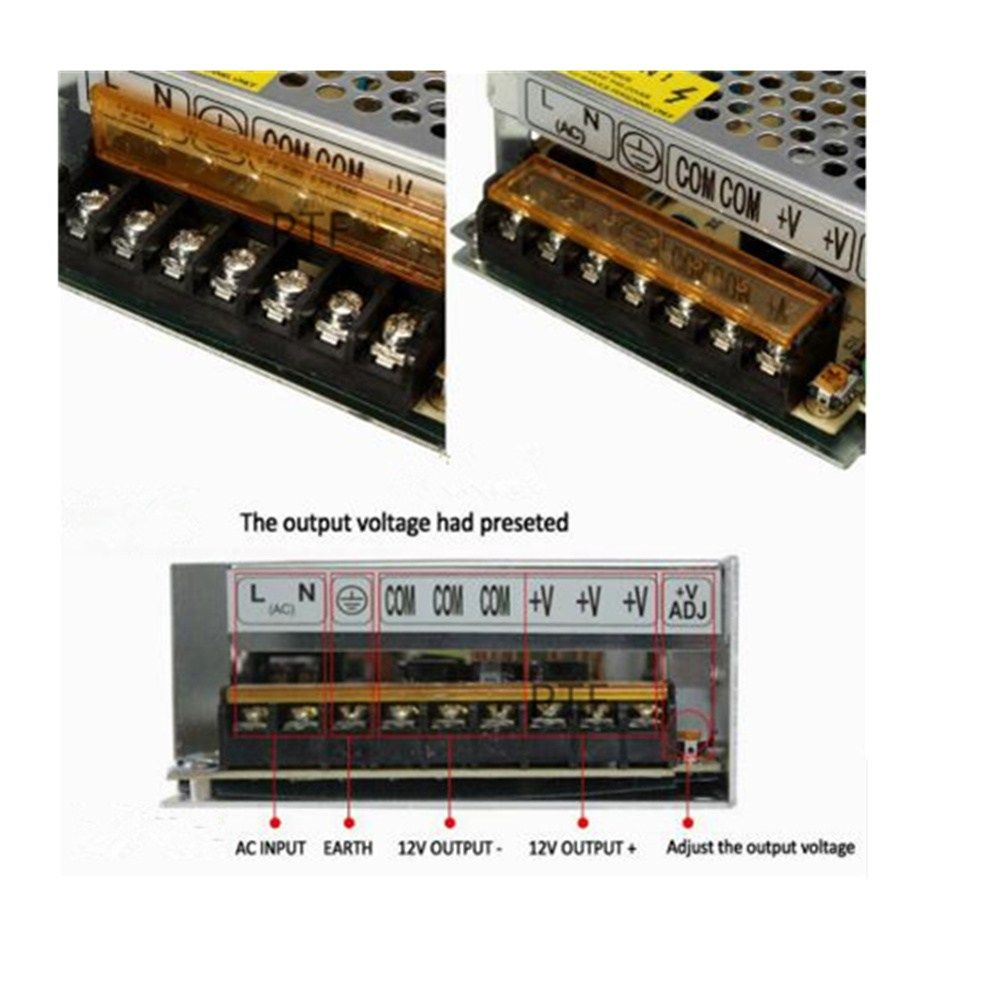 Led Power Supply Transformer 5a 10a 20a 50a Led Driver Switching Ac 110v 220v To Dc 12v 24v Cctv Led Strip Led Power Supply Led Drivers Power Supply