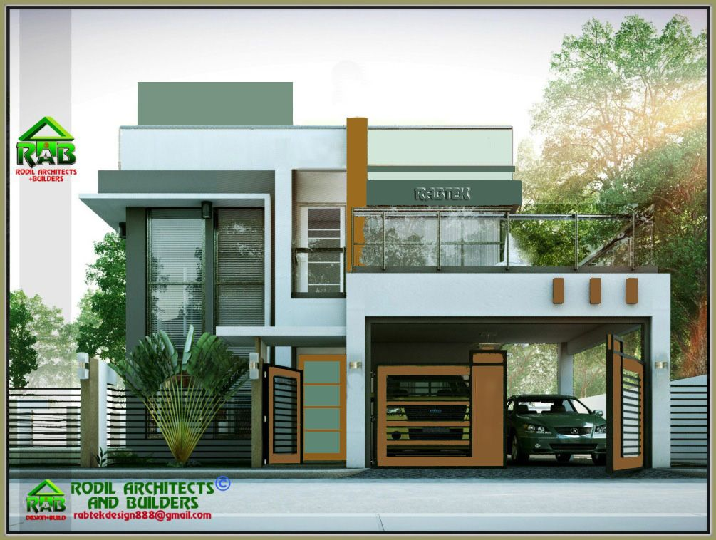 Rabtek Modern Minimalist Two Storey Residence With Roof Deck Phbp2