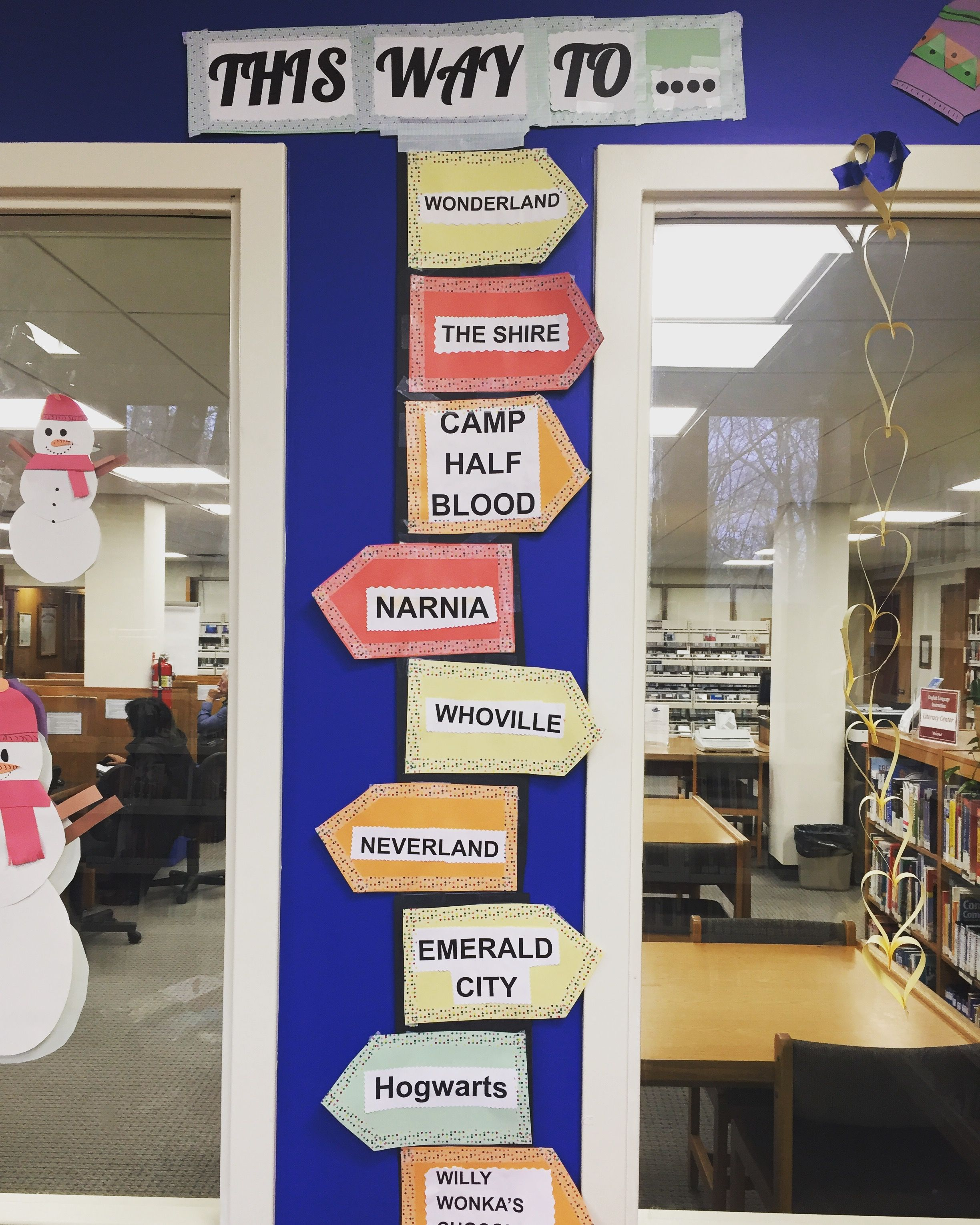 Books Take You Places! 📚🌈 ******* Thank you to Gelinas Junior High 8th grader Riley for the wonderful teen room decorations!