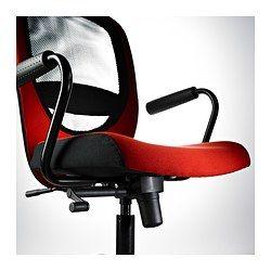 Vilgot nominell silla giratoria con reposabrazos rojo ikea cwk claudio marcelo silla - Sillas con reposabrazos ikea ...