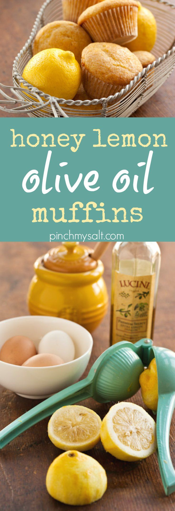 Honey Lemon Olive Oil Muffins Recipe #oliveoilcake