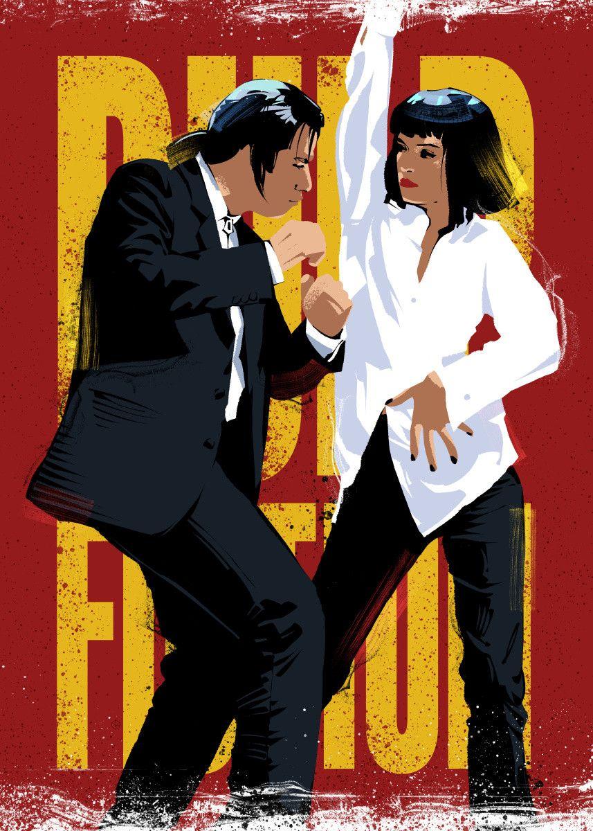 Pulp Fiction Dancing Pop Art Poster Print Metal Posters In 2020