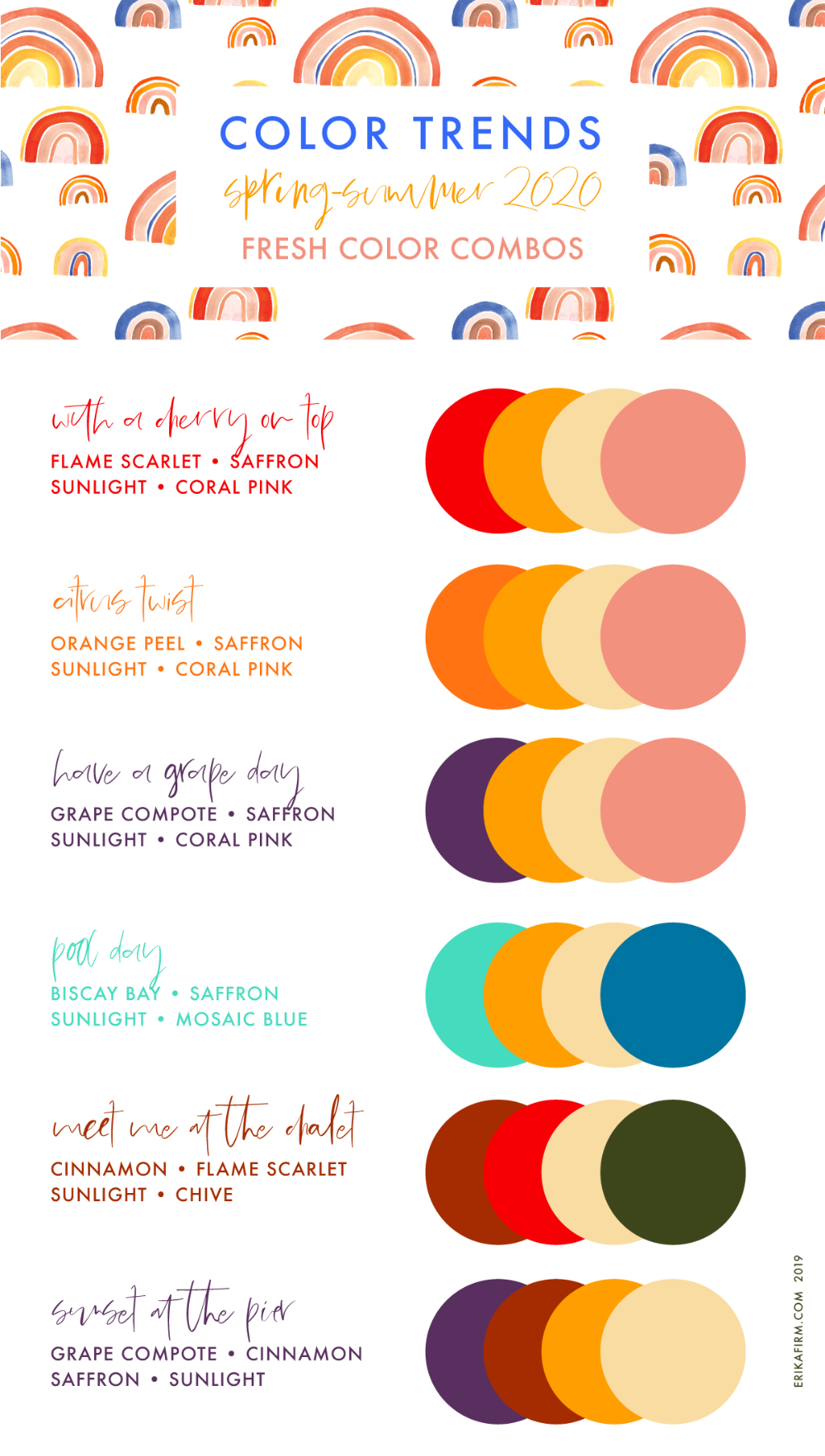 spring summer 2020 pantone colors trends in color chart coral code 185 c
