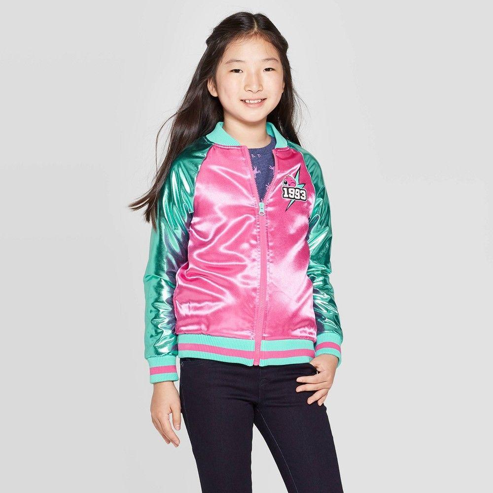 Girls L O L Surprise Go Team Glitter Track Jacket Pink Xl Plus Girl S Jackets Pink Bomber Jacket Snap Front Jacket [ 1000 x 1000 Pixel ]