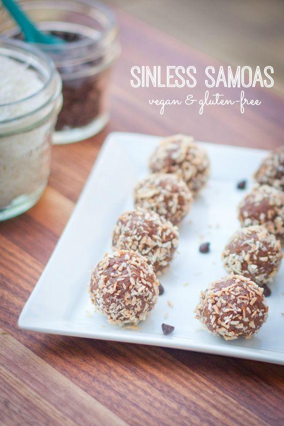 Sinless Samoas -- A healthy version of my favorite Girl Scout cookie #vegan #glutenfree #healthy