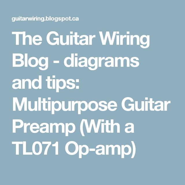 The Guitar Wiring Blog - diagrams and tips: Multipurpose Guitar ...