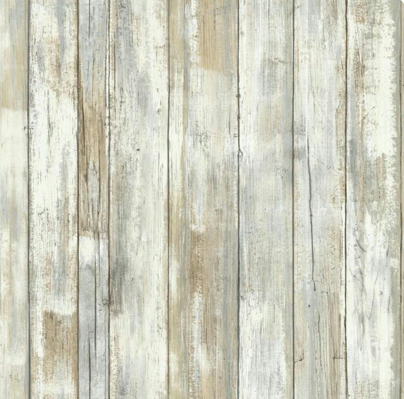 Turn Paneling Into Faux Weathered Wood By Using White Grey Tan