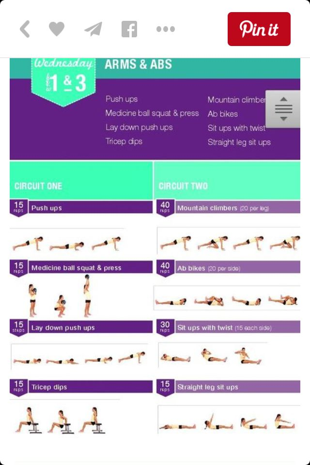 Week 1 Arms And Abs Fitness Pinterest Arms Workout And Kayla Itsines