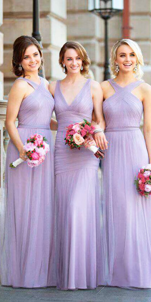 Look 2018: 12 Charming Lavender Bridesmaid Dresses | Lavender ...