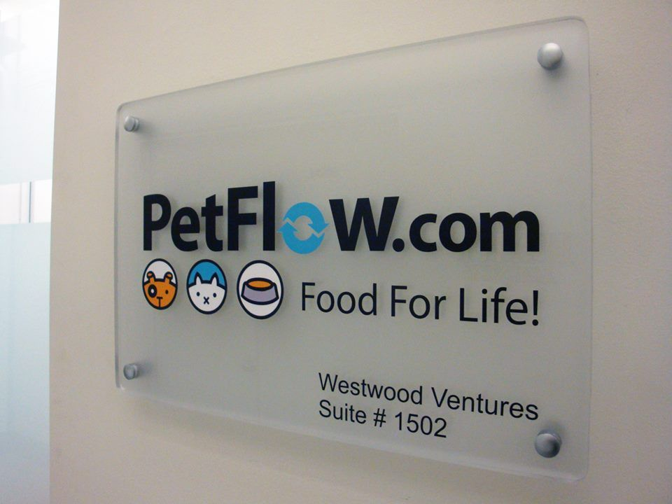 Frosted Acrylic Office Lobby Sign NYC Acrylic Sign Panel With - Custom vinyl sign lettering